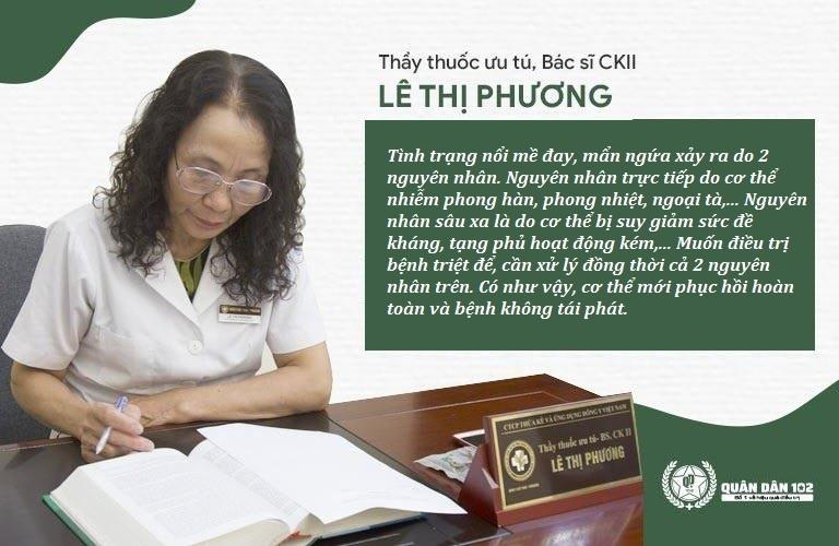 Bác sĩ Lê Phương nói về cơ chế điều trị mề đay triệt để