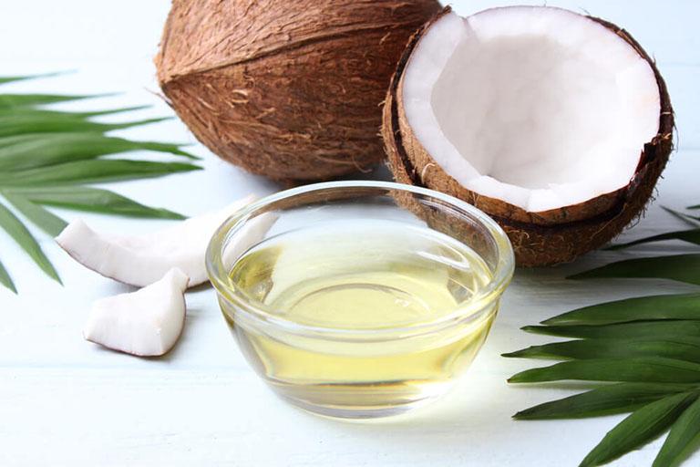 chữa viêm da tiết bã bằng dầu dừa