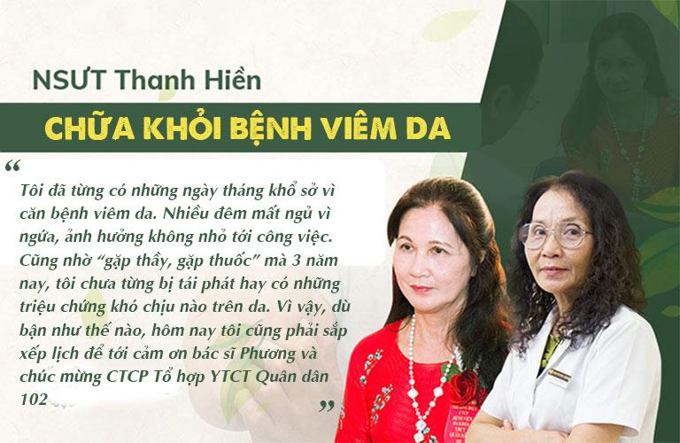 NSƯT Thanh Hiền đã vượt qua bệnh viêm da thành công nhờ bài thuốc Quân dân 102