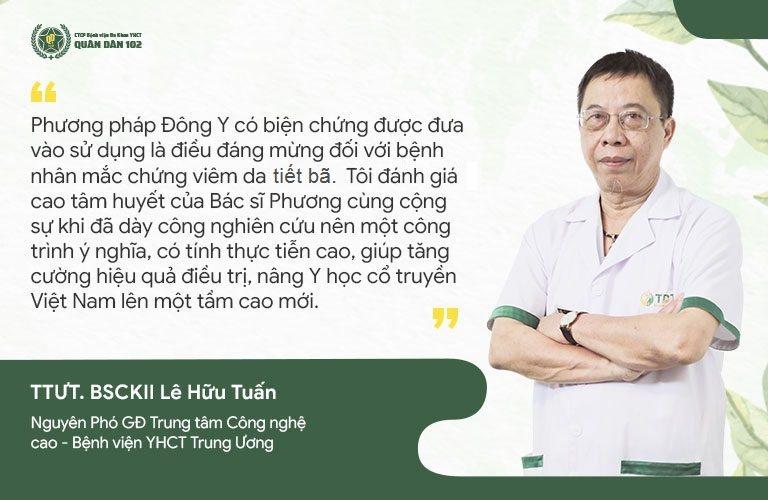 Chuyên gia y học cổ truyền Lê Hữu Tuấn đánh giá cao phương pháp Đông Y có biện chứng tại Quân dân 102