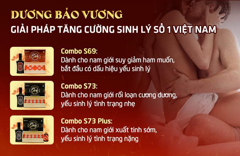 Dương Bảo Vương với 3 combo sinh lý cho các đối tượng khác nhau