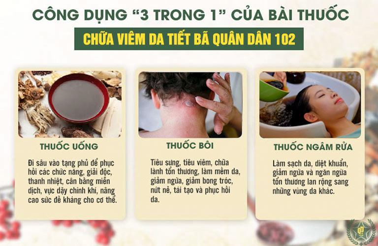 """Kết hợp """"trong uống, ngoài bôi, gội rửa"""" giúp mang đến phác đồ điều trị viêm da tiết bã da đầu hoàn chỉnh nhất"""