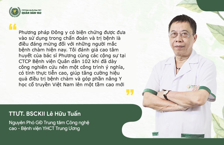Nhận định của TTƯT. BS Lê Hữu Tuấn về phương pháp điều trị bệnh chàm tại CTCP Bệnh viện Quân dân 102