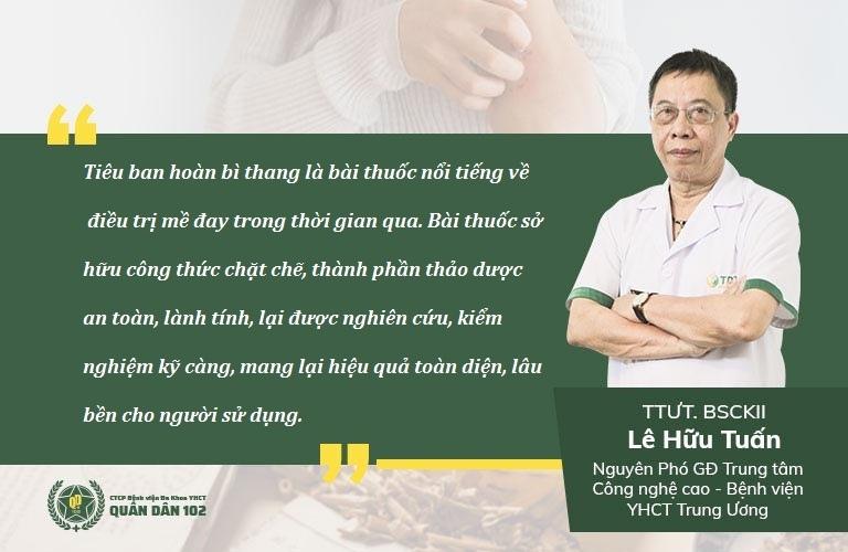 Bài thuốc đặc trị mề đay Tiêu ban hoàn bì thang được chuyên gia YHCT đánh giá cao