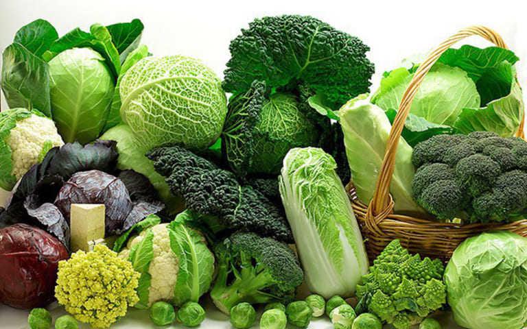 Rau xanh không những tốt cho hệ tiêu hóa mà còn hạn chế viêm nhiễm khi bị viêm da tiết bã.