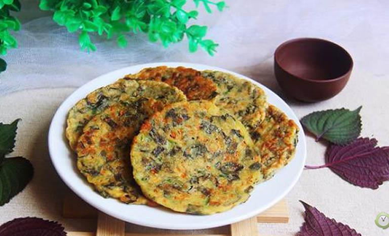 Trứng chiên lá tía tô là món ăn bổ dưỡng, tốt cho người bị viêm da cơ địa