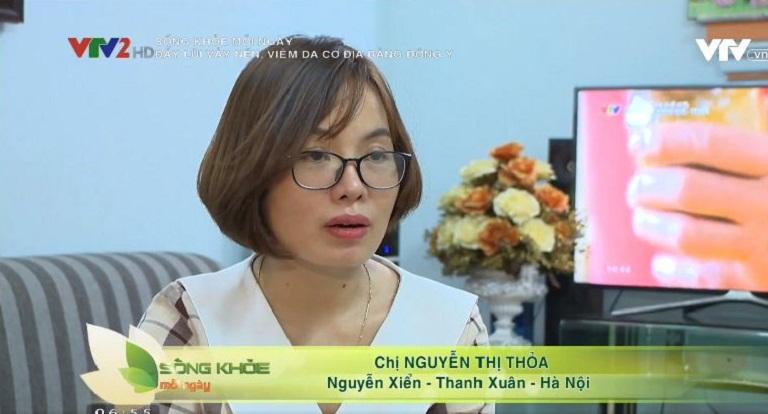 Chị Nguyễn Thị Thỏa thoát viêm da cơ địa nhiều năm nhờ Thanh bì Dưỡng can thang