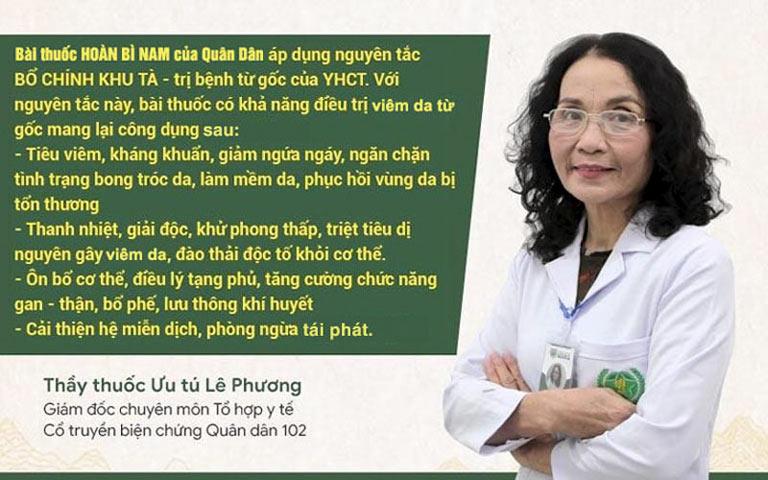 Bác sĩ Lê Phương chia sẻ về cơ chế điều trị của bài thuốc Hoàn Bì Nam