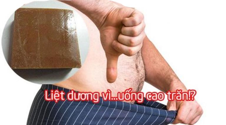 Cao trăn gây liệt dương ở nam giới