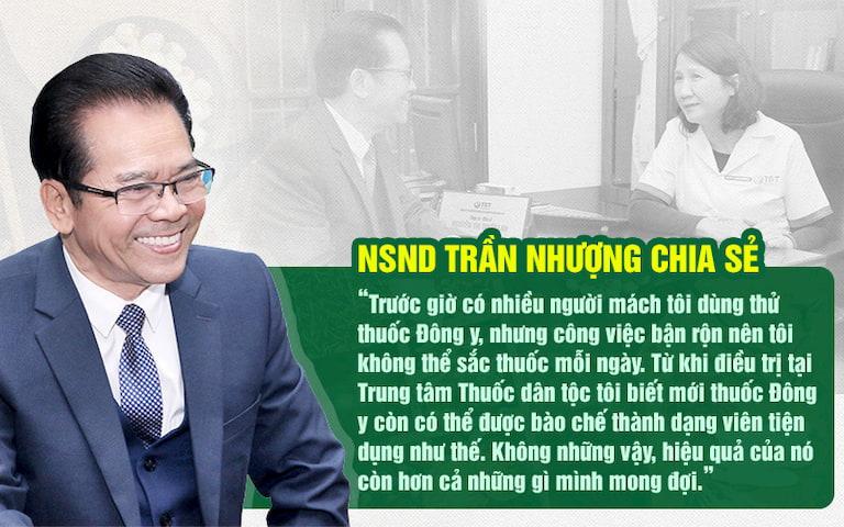 NSND Trần Nhượng chia sẻ thêm về Sơ can Bình vị tán