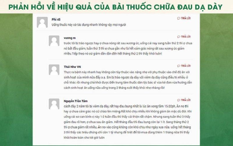 Một số review về Sơ can Bình vị tán trên các website