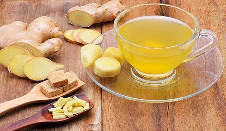 Uống trà gừng giúp hỗ trợ điều trị bệnh tại nhà và đẩy lùi triệu chứng do bệnh gây ra