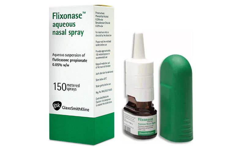 Thuốc xịt mũi Flixonase chứa corticoid tổng hợp giúp giảm nhanh các triệu chứng của bệnh viêm xoang
