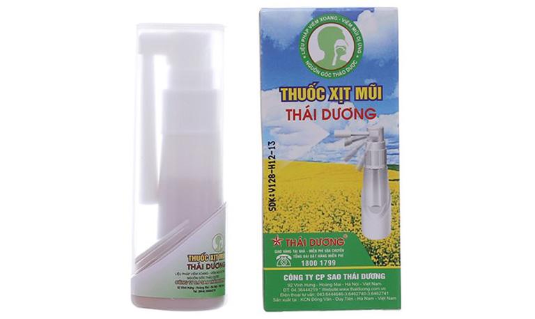 Thuốc xịt mũi Thái dương trị viêm xoang được chuyên gia đánh giá cao về hiệu quả
