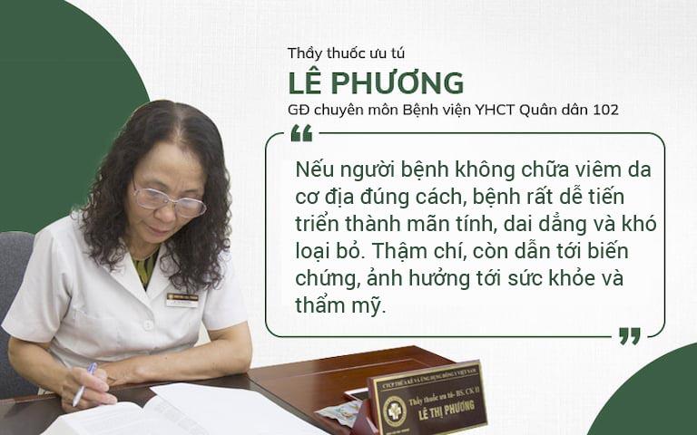 Bác sĩ Lê Phương Quân Dân tư vấn về viêm da cơ địa