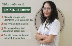 TTƯT. BS Lê Phương với hơn 40 năm kinh nghiệm chữa bệnh viêm da