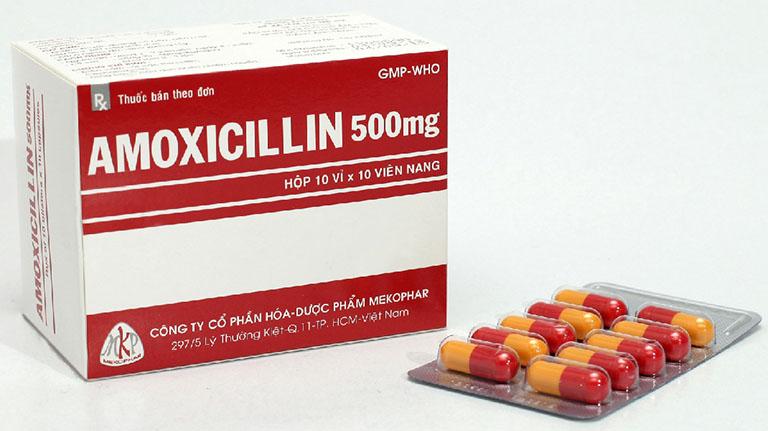 Thuốc kháng sinh Amoxicillin chữa viêm xoang