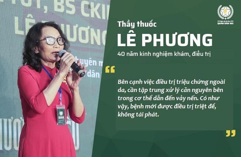 Bác sĩ Lê Phương chỉ ra cách hỗ trợ điều trị vảy nến tận gốc, không quay trở lại