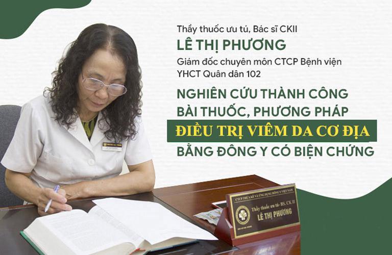 Bác sĩ Phương là người trực tiếp khám và điều trị bệnh viêm da cơ địa tại CTCP Bệnh viện Quân dân 102