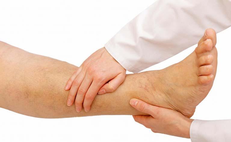 vật lý trị liệu chữa viêm khớp cổ chân