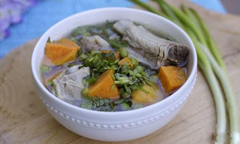 Bổ sung dưỡng chất cho cơ thể bằng món canh canh khoai lang hầm xương heo
