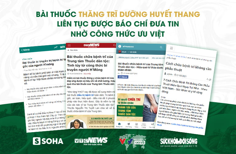 Nhiều trang báo uy tín đã đưa tin giới thiệu bài thuốc