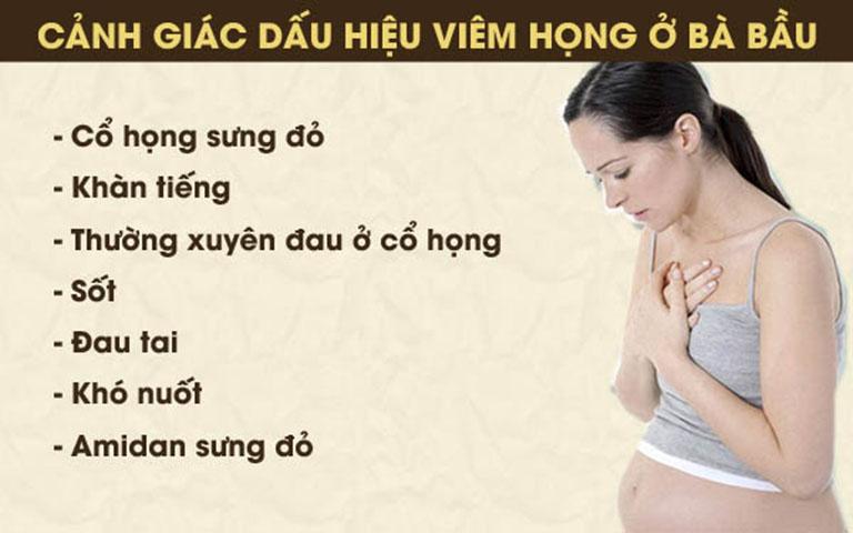 Viêm họng khi mang thai 3 tháng đầu