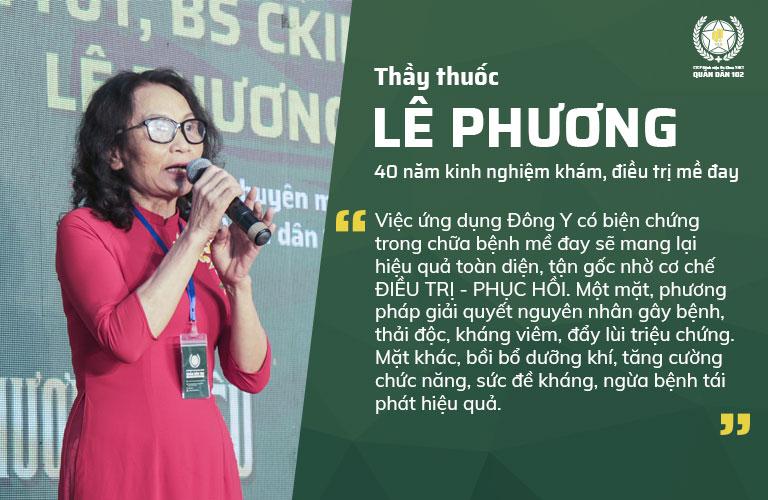 Chia sẻ của Bác sĩ Lê Phương - Giám đốc chuyên môn THYT Cổ truyền Biện chứng Quân Dân 102