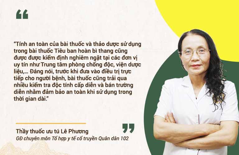 Bác sĩ Phương chia sẻ Tiêu ban hoàn bì thang