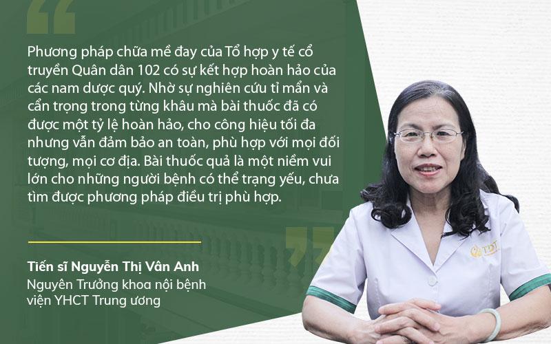 Bác sĩ Vân Anh nhận xét bài thuốc Tiêu ban hoàn bì thang