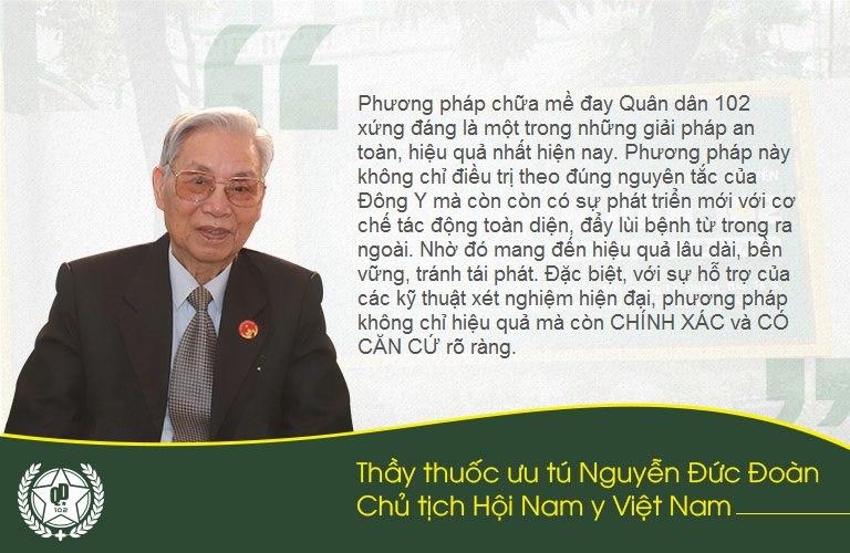 Thầy thuốc Nguyễn Đức Đoàn đánh giá cao tính khoa học, độc đáo của phương pháp