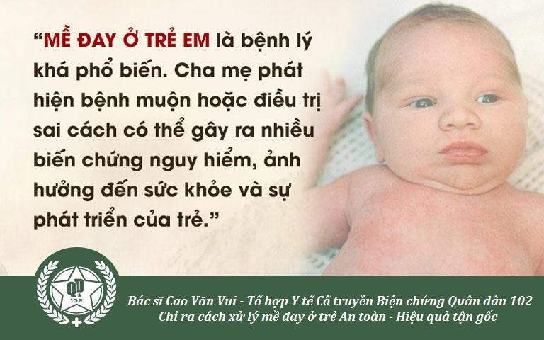 Bác sĩ Vui chỉ ra những biến chứng mề đay ở trẻ em và cách xử lý, phòng tránh hiệu quả
