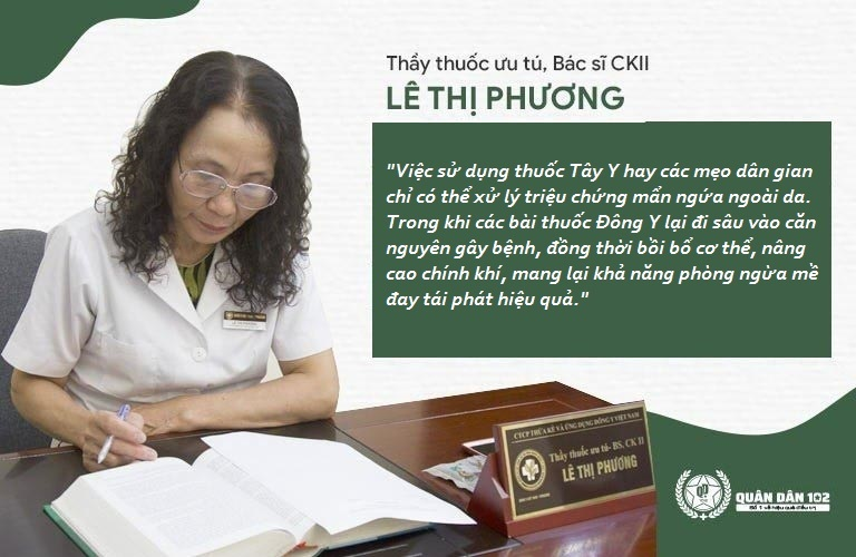 Bác sĩ Lê Phương chỉ ra cách đẩy lùi mề đay từ gốc, giảm khả năng bệnh quay trở lại