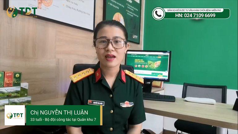 Bệnh nhân Nguyễn Thị Luận chia sẻ về Sơ can Bình vị tán