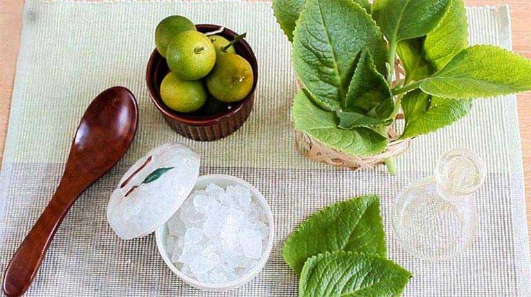 Dùng rau tần dày lá trị ho