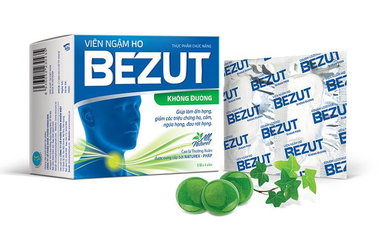 Viên ngậm Bezut được chiết xuất từ lá cây thường xuân và thành phần isomalt được chiết xuất từ củ cải đường