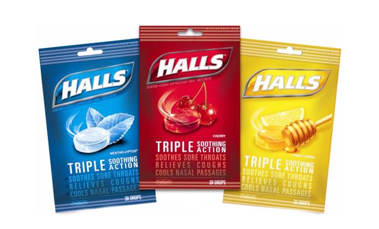 Kẹo ngậm Halls có nhiều hương vị khác nhau, giúp bạn có thêm nhiều sự lựa chọn phù hợp với sở thích của cá nhân