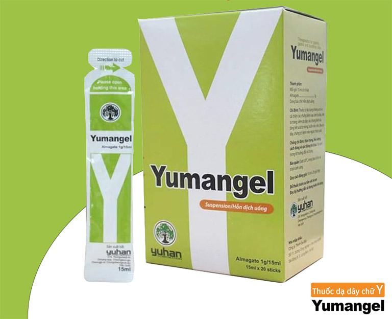 Thuốc dạ dày chữ Y (Yumangel) chủ yếu chứa thành phần hoạt chất kháng axit Almagat với công dụng cải thiện triệu chứng do tăng tiết dịch vị như đau dạ dày