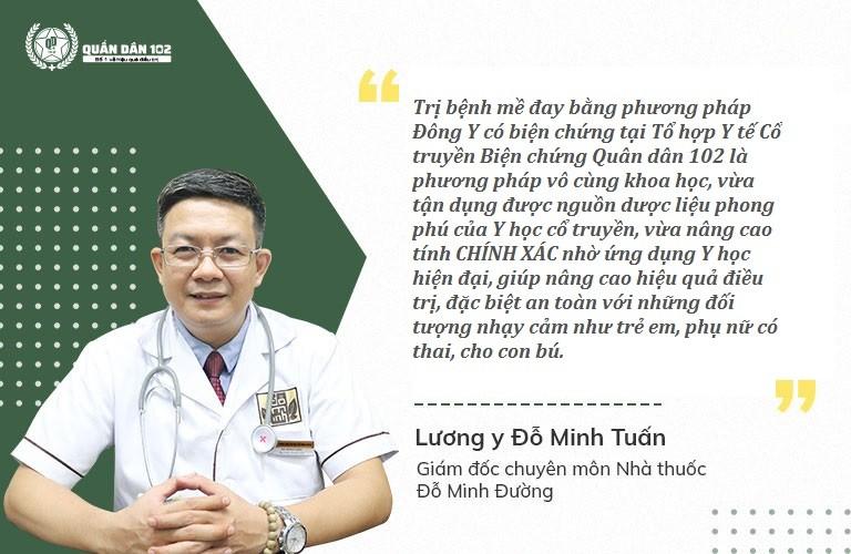 Lương Y Đỗ Minh Tuấn đánh giá cao phương pháp xử lý mề đay Quân dân 102