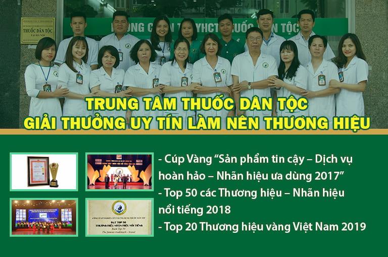 Các giải thưởng Trung tâm Thuốc dân tộc đạt được