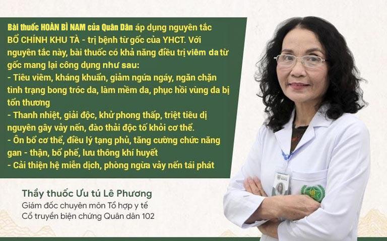 Bác sĩ Lê Phương chia sẻ về cơ chế điều trị của bài thuốc chữa viêm da Hoàn Bì Nam