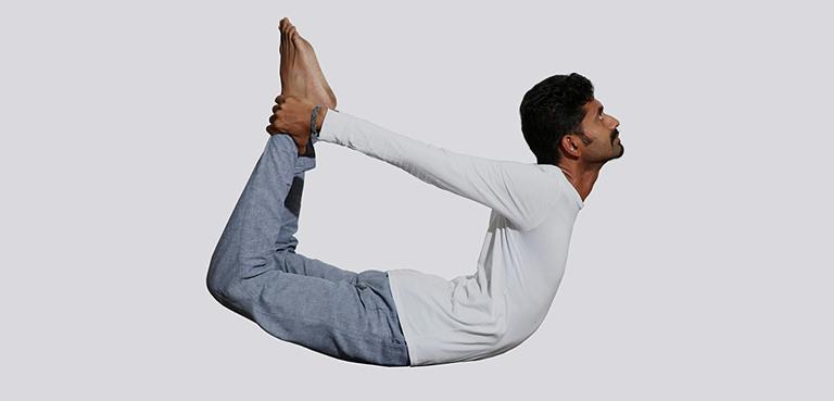 bài tập yoga tư thế cây cung chữa đau lưng, đau cột sống