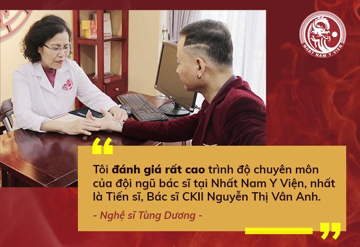 Nghệ sĩ Tùng Dương đến thăm khám tại Nhất Nam Y Viện