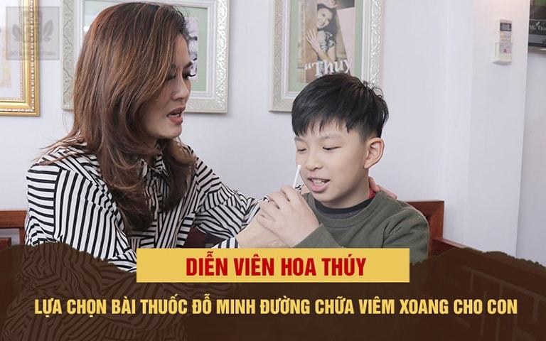 DV Hoa Thúy tin tưởng lựa chọn thuốc Viêm xoang Đỗ Minh điều trị cho con trai
