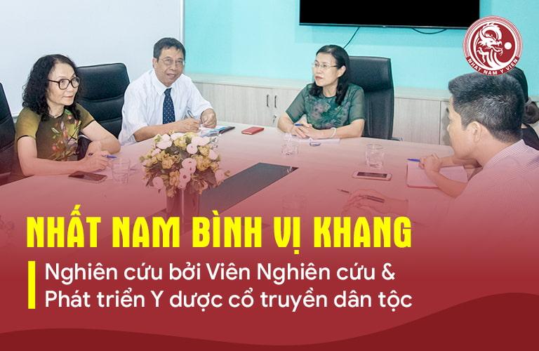 Nhất Nam Bình Vị Khang được nghiên cứu bởi đơn vị uy tín