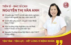 Bác sĩ Vân Bác sĩ Vân Anh là vị danh y hàng đầu điều trị viêm loét dạ dày theo YHCT nói về chữa viêm loét dạ dày HP theo quan niệm của Đông y