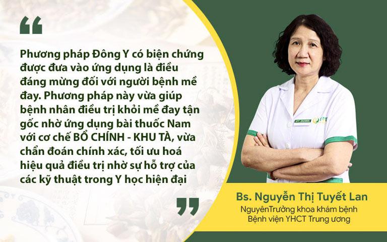 Bác sĩ Nguyễn Thị Lan đánh giá về hiệu quả chữa mề đay theo phương pháp Đông y có biện chứng