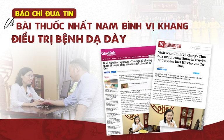 Nhất Nam Bình Vị Khang đã thu hút được rất nhiều sự quan tâm của các trang báo uy tín